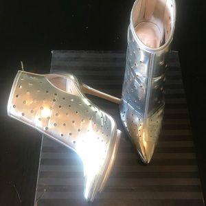 Victoria's secret, silver Ankle boots.